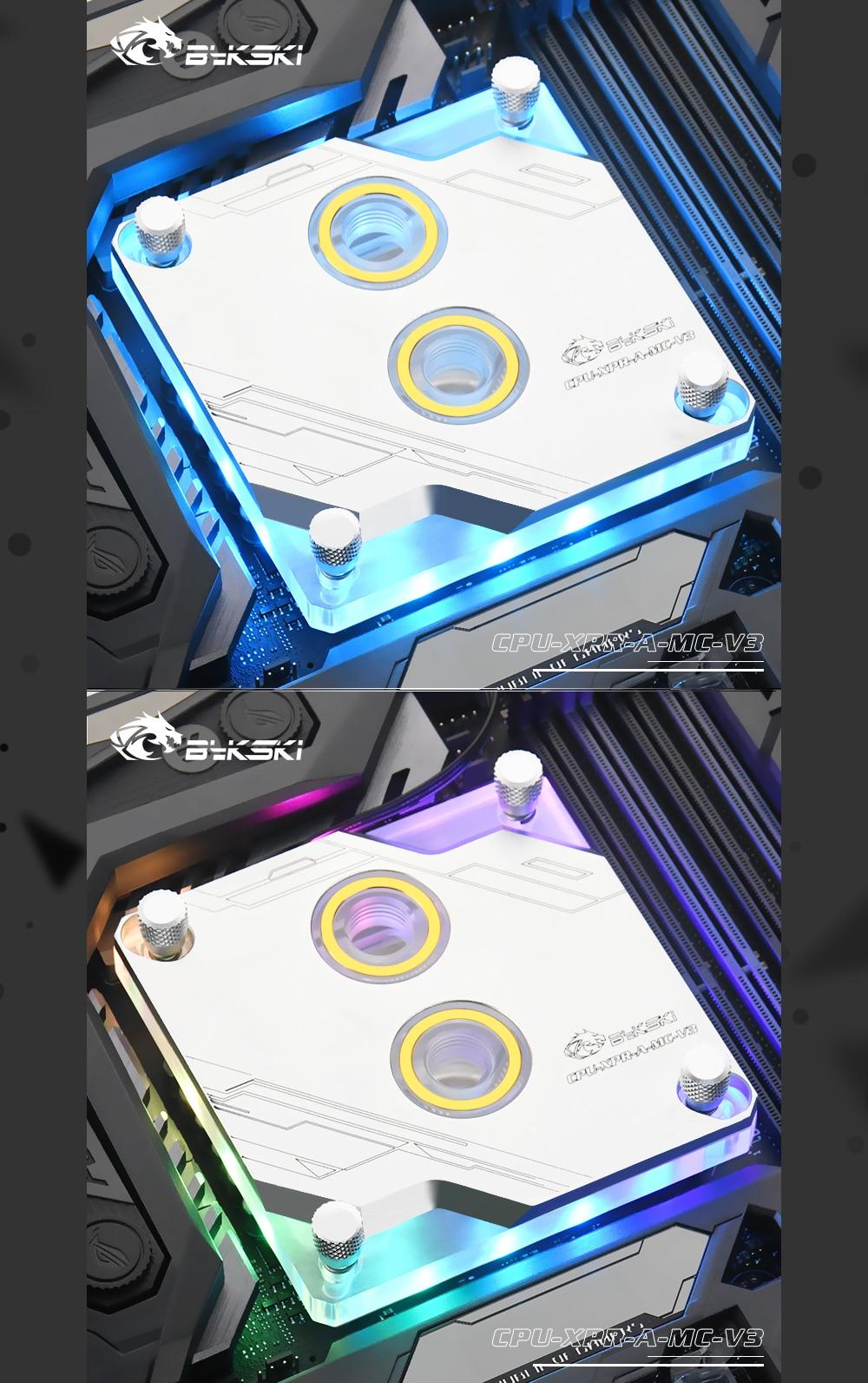 Bykski CPU-XPR-A-MC-V3 For Intel Lga115x/2011 CPU Water Blocks RBW Lighting System Microwaterway Water Cooling Block