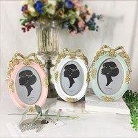 uropean Retro Home Photo Studio Craft Gift Ornaments Wall 6 Inch Wedding Frame Resin Creative Photo Frame