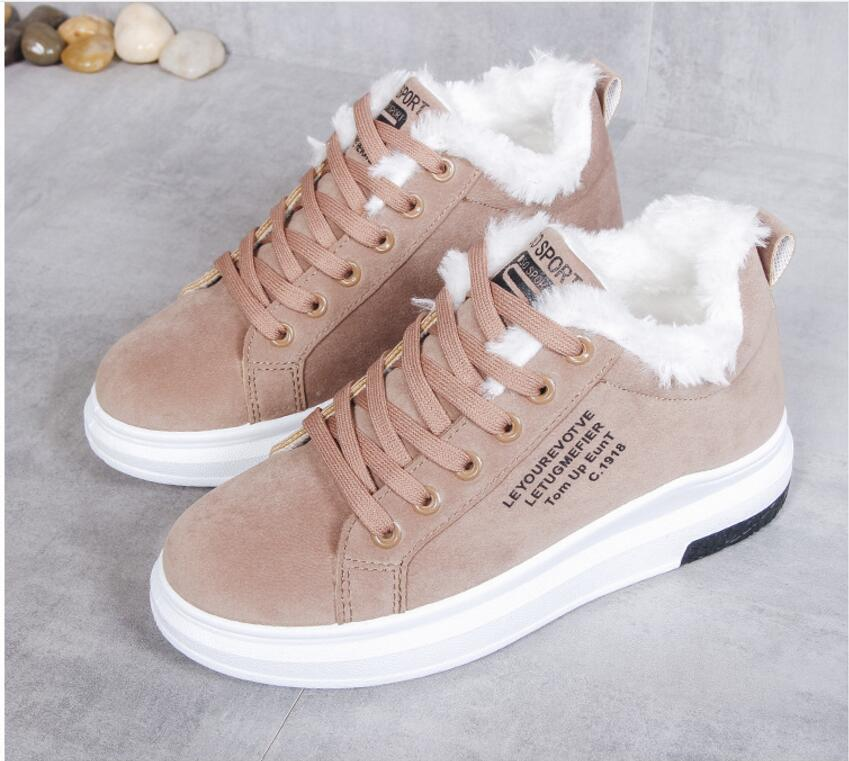 Cotton Shoes Female New Women's Boots Winter Plus Velvet Cotton Shoes Thick-Soled Warm Snow Women's Boots Women's Cotton Boots 10