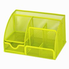 7 Storage Multi-functional Desk Organizer Mesh Metal Pen Holder Stationery Container Caddy Office School Supplies deli office pen container small objects storage box multifunctional desk organizer portable pen holder office school supplies