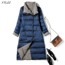 Down-Coat Winter Women Parkas Warm-Snow Ultra-Light Autumn Double-Sided Long 90%White-Duck-Down