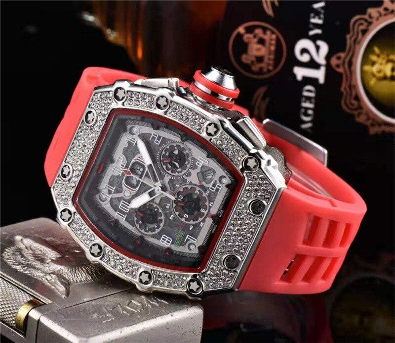 Cadeau diamant DZ digite homme montre Rlo dz Auto Date semaine affichage lumineux plongeur montres acier inoxydable poignet homme mâle horloge - 2