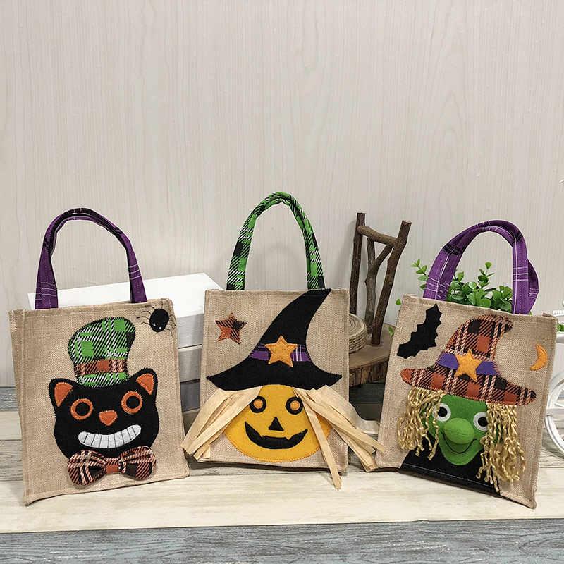 Decoraciones de Halloween bolsas de calabaza no tejidas Festival fantasma centro comercial Hotel galletas Apple regalo bolsas