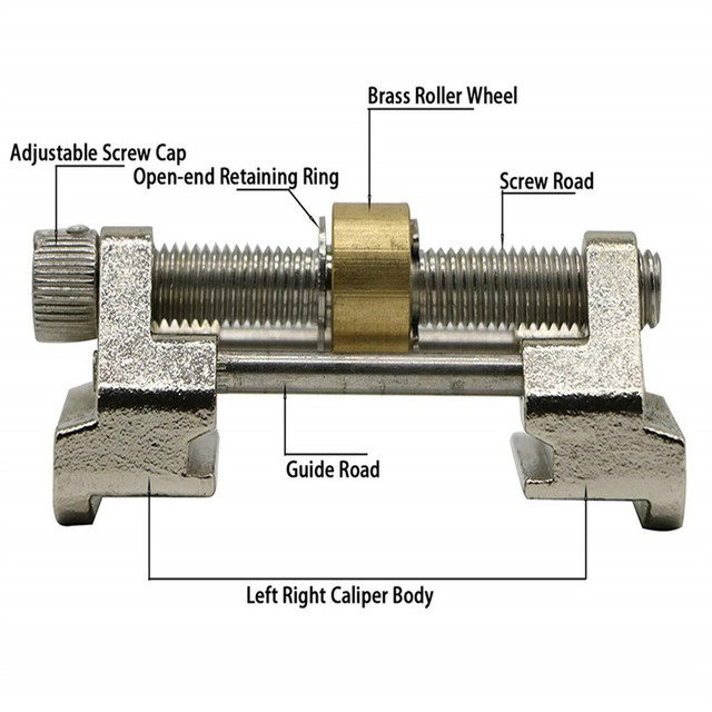 Gabarit de guidage de rodage en laiton/acier inoxydable pour lame de burin