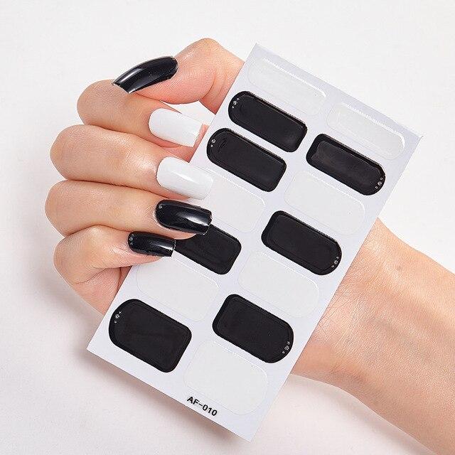 Фото полное покрытие наклейки для ногтей s лак украшения дизайнерские цена
