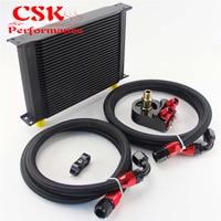 Universal 28 fileira 10an alumínio motor de transmissão de óleo cooler + filtro adaptador kit
