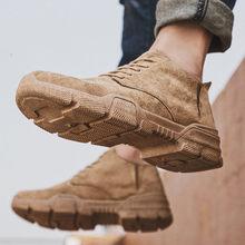 Sapatos masculinos novos, botas martin masculinas, botas de trabalho feito com ferramentas esportivas, sapatos de caminhada, sapatos de lazer ao ar livre caça sapatos de desporto