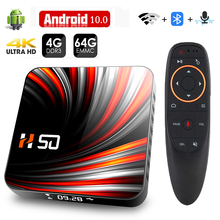 Android TV Box Android 10 4GB 32GB 64GB 4K H.265 Media Player 3D Video 2.4G 5GHz Wifi Bluetooth Smart TV Box Set top box