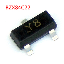 BZX84C22 SOT23-3 BZX84C22LT1G Y8 22V  integrated circuit