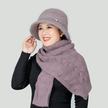 Модная зимняя шапка и шарф комплект для женщин обувь на теплом