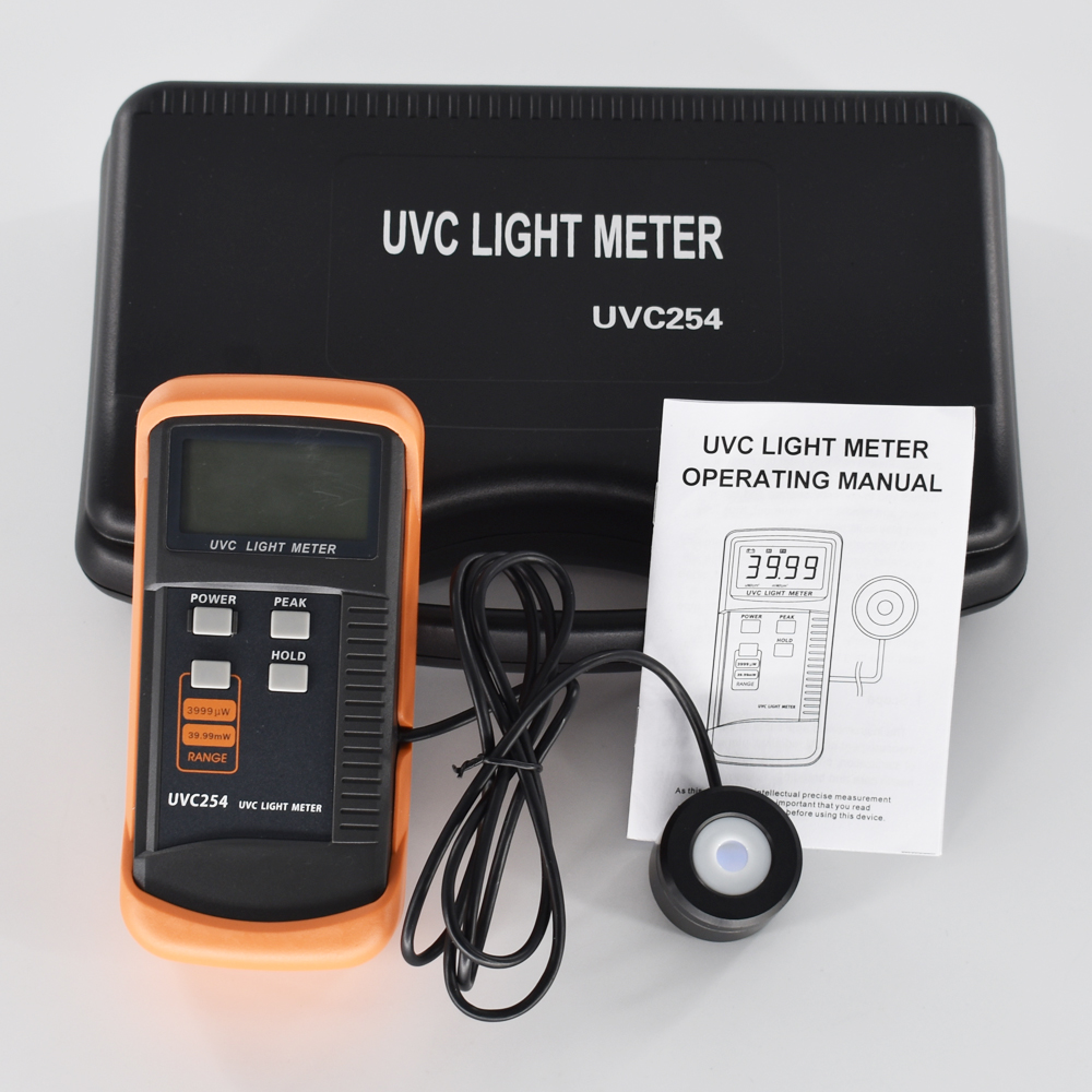UVC Light Meter UVC254 UV Meter Measurement Of UV Radiation Intensity Radiometer