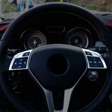 Rvs Auto Stuurwiel Knoppen Frame Decoratie Stikcer Trim 2 Stuks Voor Mercedes Benz Cla C117 Gla X156 Glk