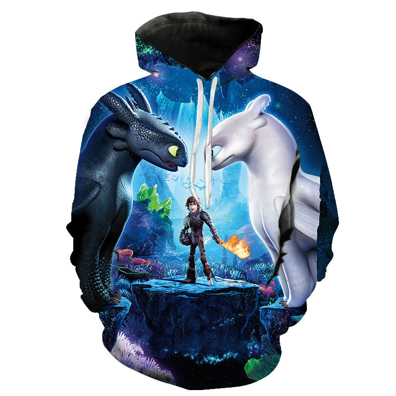 Cartoon Anime How To Train Your Dragon The Hidden World 3D Print Hoodies Men Women Children Casual Cool Sweatshirt Pullover