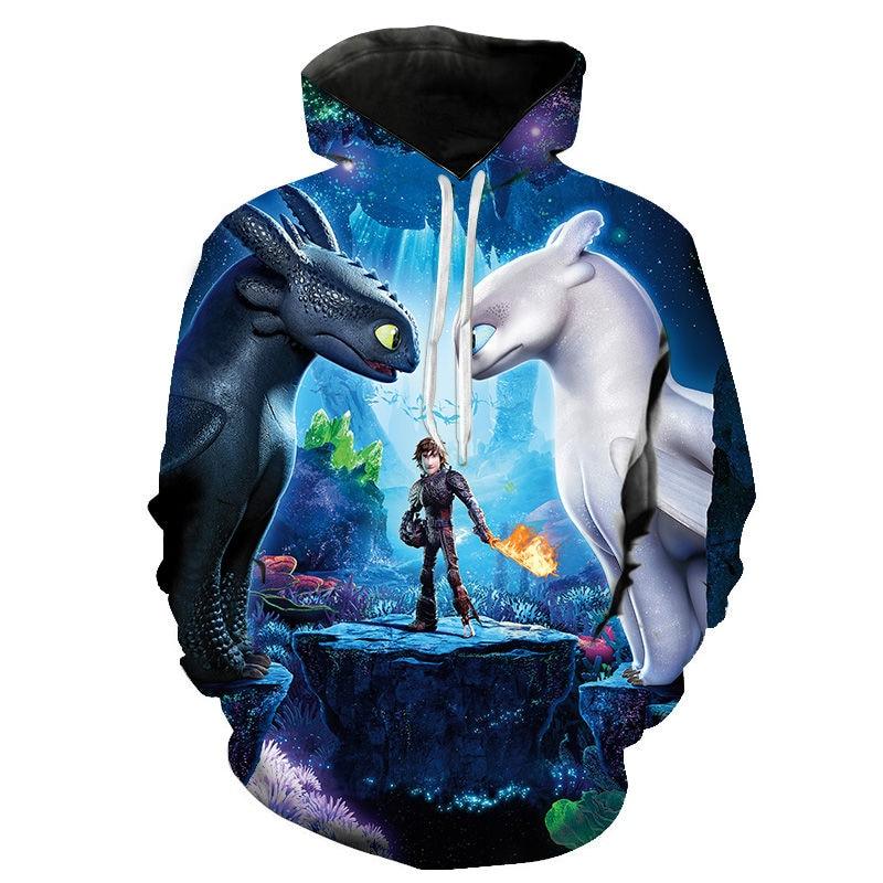 Cartoon Anime How To Train Your Dragon The Hidden World 3D Print Hoodies Men Women Children Casual Cool Sweatshirt Pullover