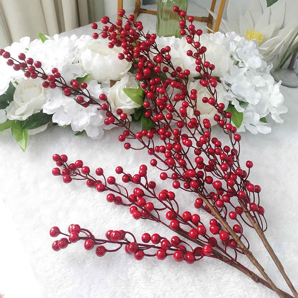 EOPER 500 piezas de bayas artificiales de cereza roja de acebo para /árbol de Navidad DIY regalo boda decoraci/ón