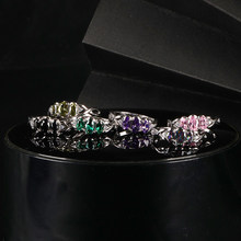 Gorgeous Color Gem Ring 925 Sterling Silver Creates Elegant And Exquisite Jewelry Gift Suitable For Female Jewelry Ring