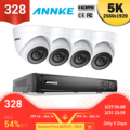 ANNKE 8CH HD 5MP POE sistema de Video de red de seguridad 8MP H.265 + NVR con 4X 5MP 30m EXIR visión nocturna impermeable WIFI cámara IP