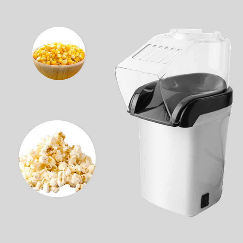 Máquina de pipoca Popper da Pipoca Do Ar Quente + Grãos de Pipoca Popcorn Maker com Copo De Medição para Medir + Derreter Manteiga- branco (UE Pl