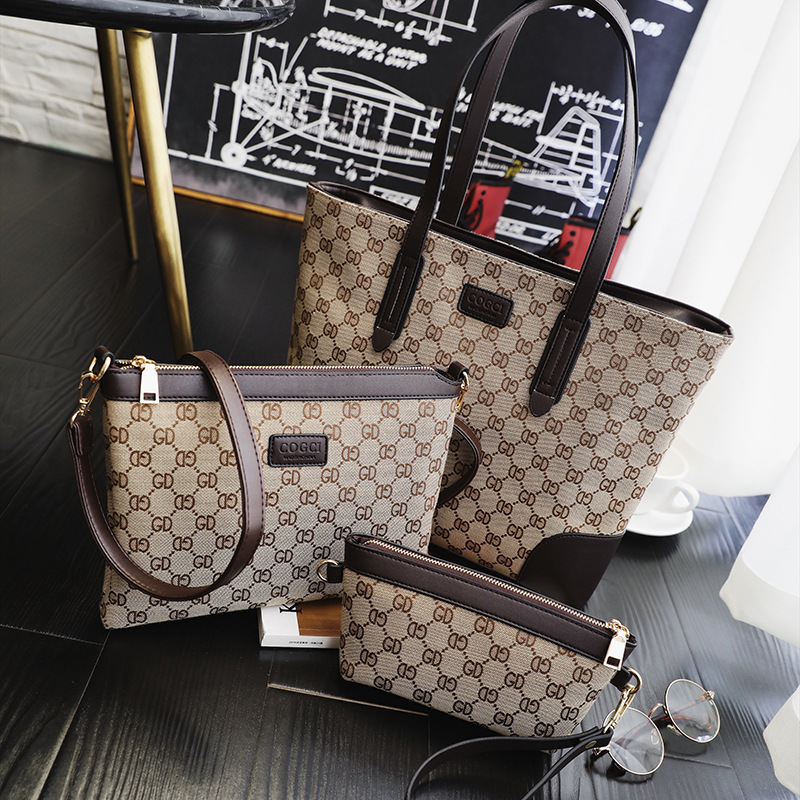 Pink Sugao luxury handbags women bags designer 3PCS composite bags set women shoulder bag famous purses and handbags crossbody
