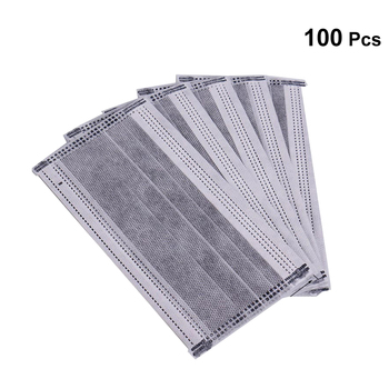 100 pcs disposable masks medical masks disposable earloop medical surgical four layer activated carbon filter face masks
