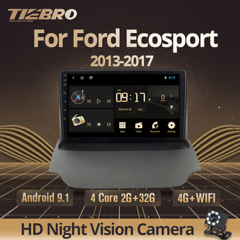 TIEBRO 2din Android 9.0 Car Radio For Ford Ecosport 2013 2014 2015 2016-2017 Car Multimedia Player Auto Radio Stereo Car DVD image