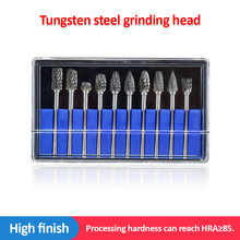 10Pcs/Set Tungsten Carbide Rotary File hard alloy rotary bur Drill Bit engraving cutter 40mm Shank Grinding Head For Dremel Dril