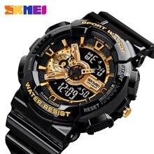 2020 nowy modny zegarek cyfrowy mężczyźni uczeń wodoodporny podwójny Chrono budzik męskie zegarki na rękę LED fajne godziny chłopców