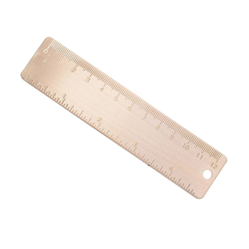 Mini Brass Ruler Bookmark Label Cartography Painting Measuring Tool Stationery