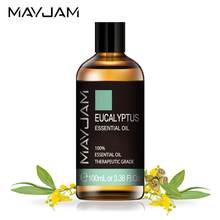 100ml natural eucalipto óleo essencial difusor aromático óleos essenciais hortelã baunilha lavanda sândalo bergamota chá árvore aroma