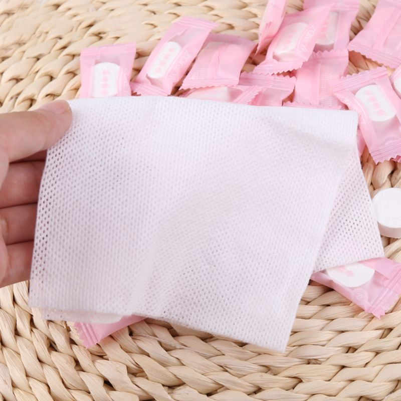 100 Pcs Portable Travel Cotton Compressed Towel Expandable Face Care Healthy Magic Towel For Outdoor Sports