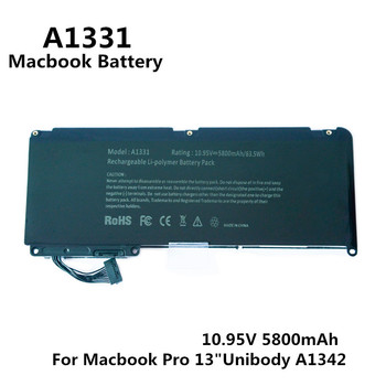 "100% Original 10.98V 5800mAh Notebook Laptop A1331 Battery FOR Apple Macbook Pro 13"" Unibody A1342 (Late 2009 Mid 2010)MC207LL/A 1"