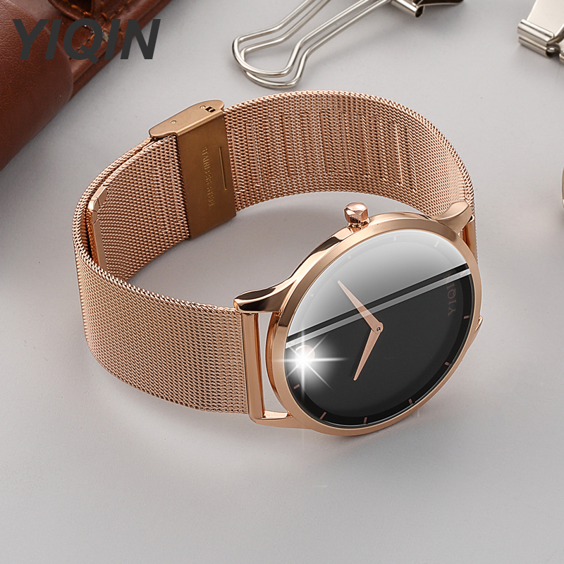Rose Gold Bracelet Analog Quartz Wristwatches Wrist Watches For Women Stainless Steel Creative Watch Ladies Clock Female Dress