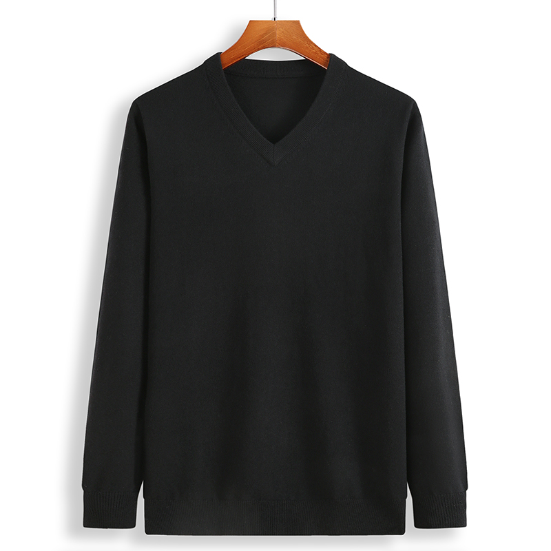 Image 3 - 2019 New Winter Cashmere Sweater Men Loose Male Pullovers V Neck Men's Knittwear Men's Christmas Sweaters Plus Size 6XL 7XL 8XL-in Pullovers from Men's Clothing