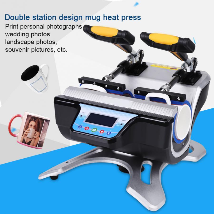 Автоматическая термопечать с двойной станцией, термопресс для сублимации, инструмент для печати, кружка с двойной стенкой, термопечать одн...