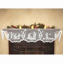 Table Runner Cloth Fireplace-Cover Party-Supplies Christmas Fashion Home 1pcs Furnace