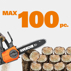 maximum cutting capacity can reach up to 100 pc