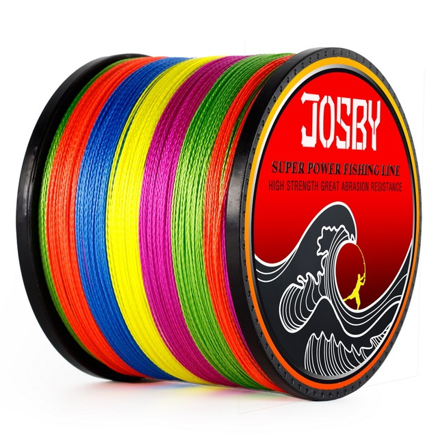 JOSBY 4 Strands 1000M PE Braided Fishing Line Saltwater Weave Carp Fishing Cord Pesca Wire Super Strong Orange  multicolor color