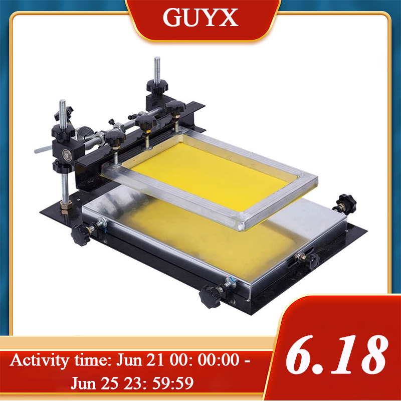 Small manual silk screen station SMT manual stamping station solder paste screen printing machine screen printing machine