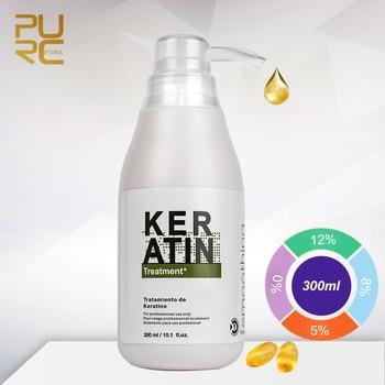 Purc 300ml Keratin Repair Hair Treatment Shampoo Mask Cream Curly Hair Straightening Smoothing Product 0% 5% 8% 12% Formalin 11 11 purc brazilian keratin 12
