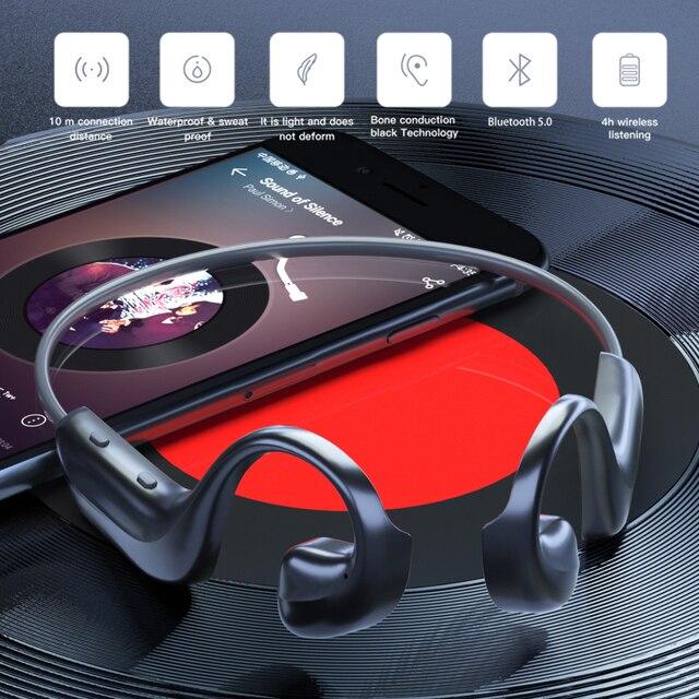 Tongdaytech Bluetooth 5.0 Earphone Sports Headphone Fone De Ouvido Waterproof Earphones Outdoor Headset For Running Cycling