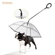 Pet-Umbrella Clear-Cover Dog Rain-Sleet Waterproof Pet-Products Snow Built-In-Leash Walking