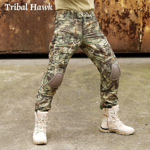 Image 4 - Military Cargo Pants Men Tactical Army SWAT Camo Pants Combat Paintball Camouflage Pants Uniforms Work Trousers Knee Pads