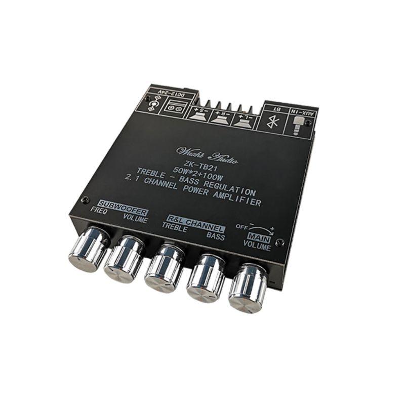 [해외] ZK-TB21 TPA3116D2 Bluetooth 5.0 서브 우퍼 증폭기 보드 50WX2 + 100W 2.1 채널 전력 오디오 스테레오 앰프 모듈