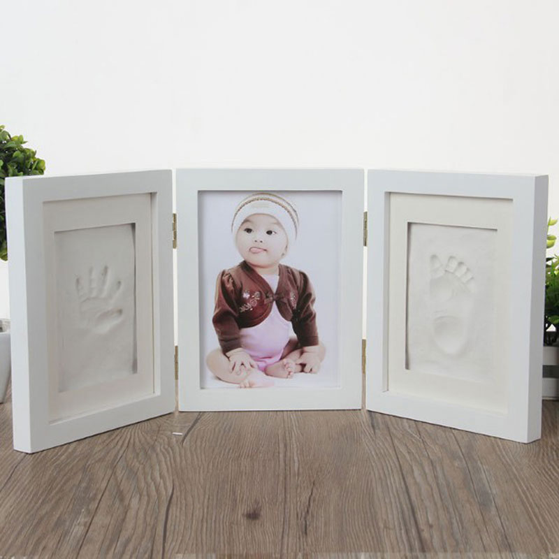 Baby Items Photo Frame Infant Molds Handprint Footprint 3D DIY Soft Clay Inkpad Kids Exquisite Baby Souvenirs Casting Gifts