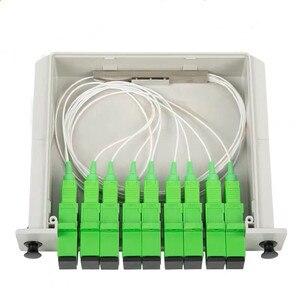 Image 5 - 10pcs/lot Cassette Insertion Type Fiber Optic Splitter Box 1x8 SC/APC