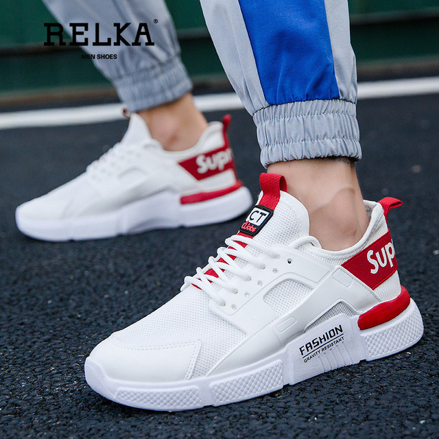 RELKA Men's Shoes Summer New Sports Casual Shoes Flat Shoes Sports Shoes White Running Shoes Off White sneakers men Y10