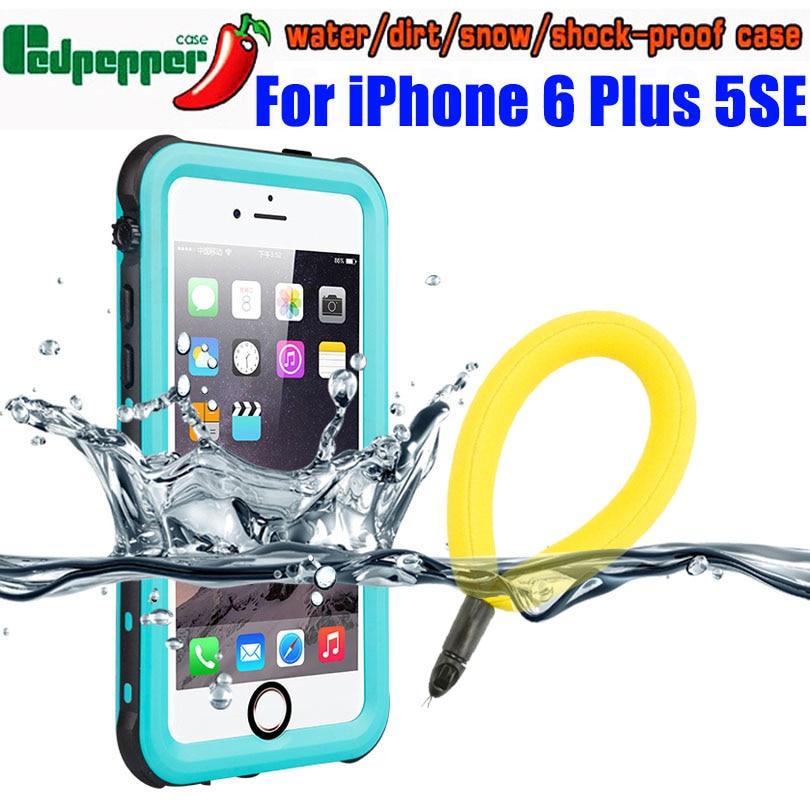 Waterproof Case For IPhone 6 Plus 5 SE 2020 7 8 Original RedPepper IP68 Diving Underwater Swim Outdoor Sports TPU Cover