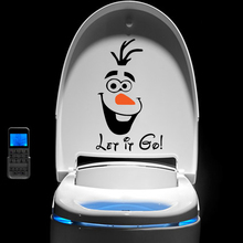 funny snowman olaf let it go wall stickers bedroom window home decor disney frozen decals vinyl mural art free shipping