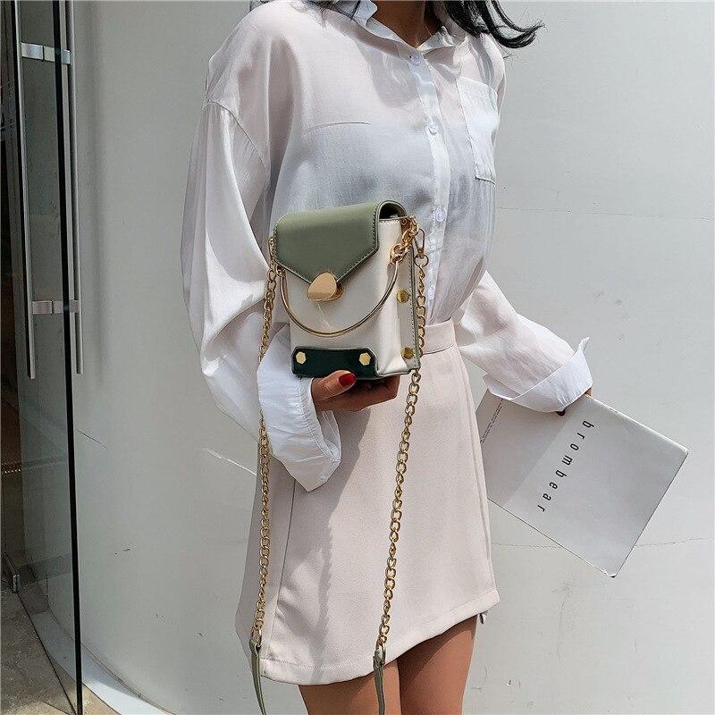 2019 new foreign style fashion summer Joker color handbag shoulder Messenger bag