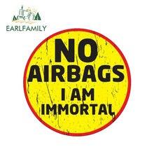 EARLFAMILY – autocollant de voiture sans airbag 13cm x 13cm, étiquette graphique drôle, pour casque tout-terrain 4x4, 4WD JDM
